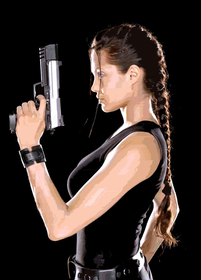 Digital Danger Girl Lady Tomb Raider Lara Croft